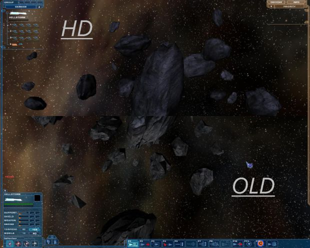 HD Asteroids pack