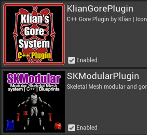 [Assets] SKModular and GoreSystem combined example