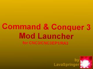 CNC3/RA3 Mod Launcher GUI + Source code