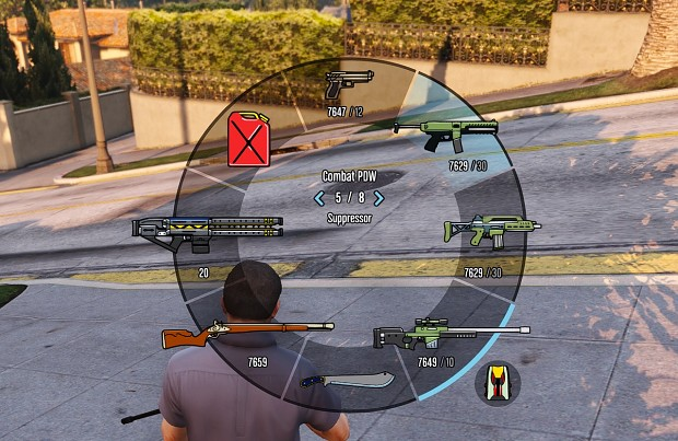 Colorful HUD Weapons, Radio & Weapons Wheel (3 SIZES) v3.0