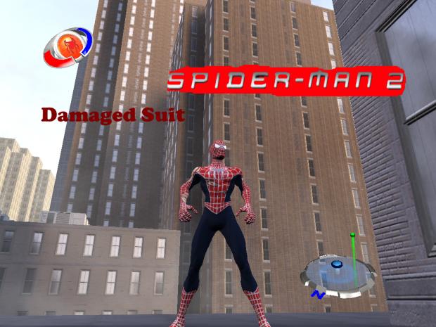 Damaged Spider Man suit 2004