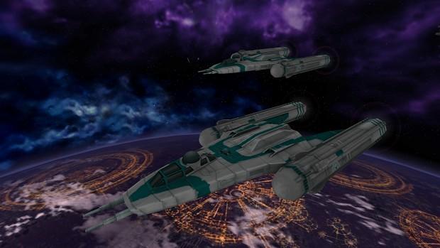 Custom Space Battle over Coruscant
