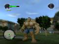 Skin of Hulk with human skin color