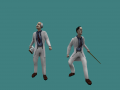 Opposing Force Scientist with Half-Life animations added