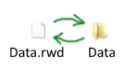 Bat-files for Waddle. Extract and package .rwd files