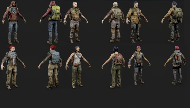 OVERKILLs The Walking Dead 3D Models