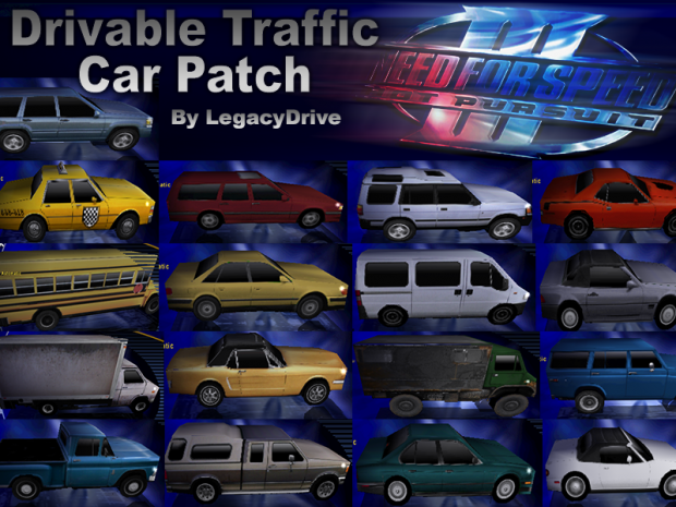 Drivable Traffic Car Patch