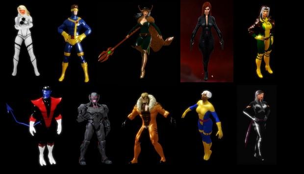 Marvel Heroes 3D Models