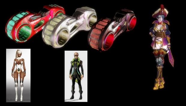 Scarlet Blade 3D Models
