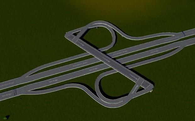 Diagonal Parclo Interchange
