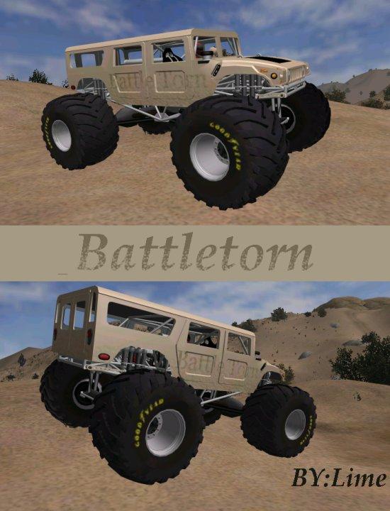 Lime's Battle Torn Monster Truck