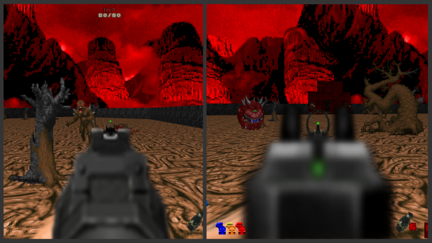 Dot-Style ADS-Sights for Rifle and SMG  - Brutal Doom v21