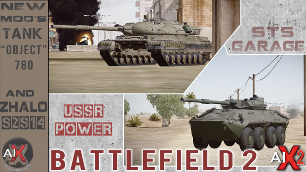 """BF2. New Mods: Tank """"Object 780"""" and Zhalo-S2S14"""