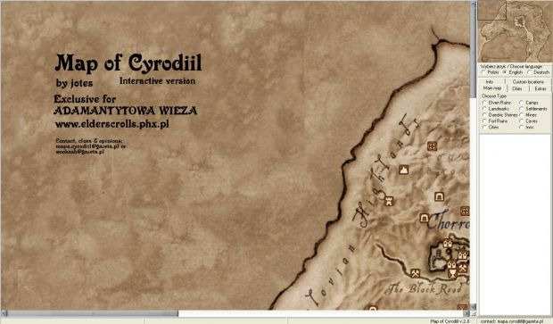 Interactive map of Cyrodiil v2.0