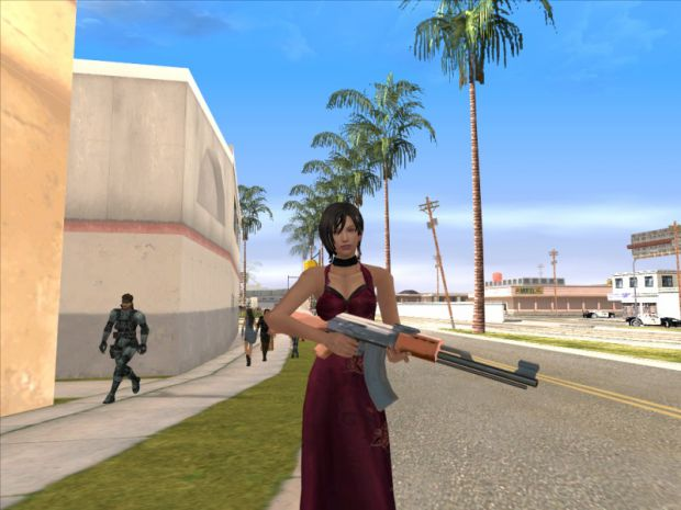 Ada Wong with Red Dress for GTA San Andreas