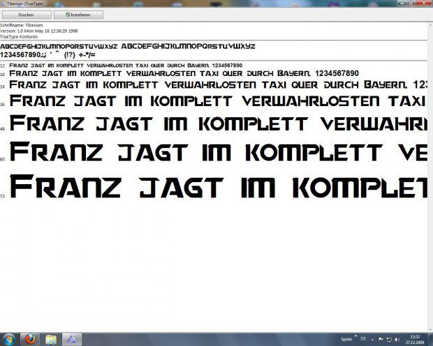 Tiberium True Type Font