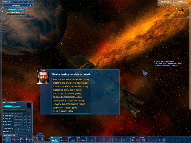 Warfare mod, building ships mid-combat