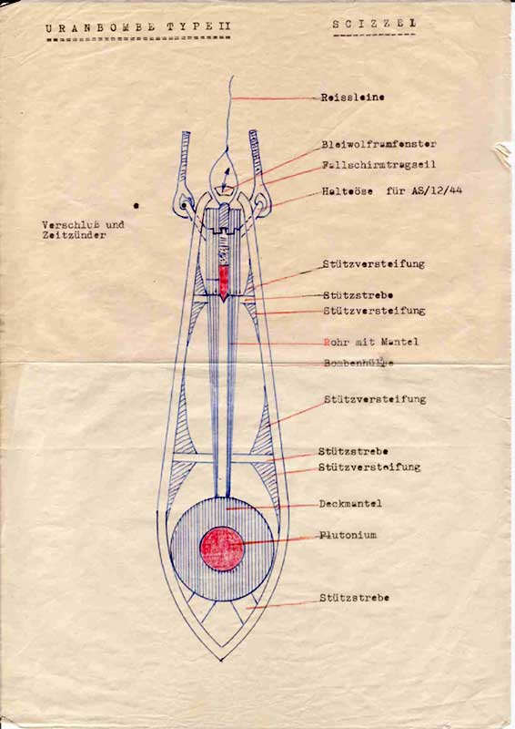 Schematics of the Nazi Nuclear BomB