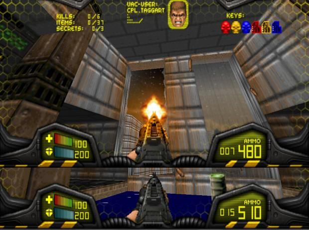HUD Visor Doom Colors V1.2  ammo count BDv21 and 19
