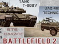 BF2. New Mods: Tank T-80BV and UAZ-469 Technical