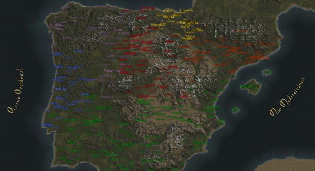 Iberia Map Replacement for Hispania 1200