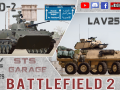 BF2. New Mods: BMD-2 and LAV-25A2 /Texture pack