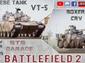 BF2. New Mods: Tank VT-5 & Boxer CRV /Texture pack