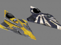 Anakin and Plo Koon's Delta-7 starfighters (for modders)