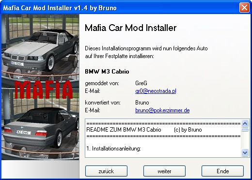 Mafia Car Mod Installer