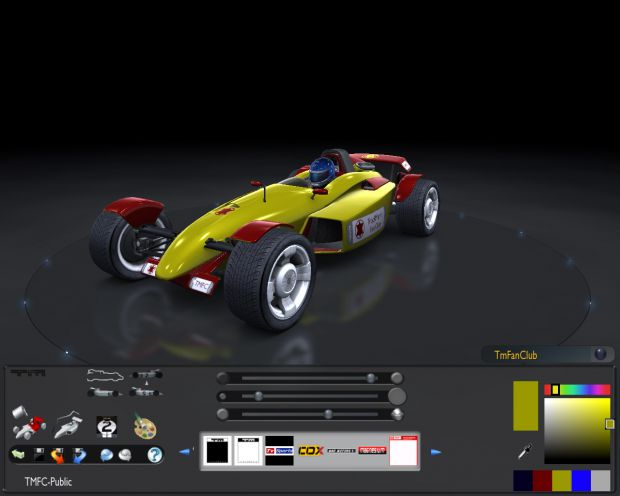 TrackMania Fan Club's Public Stadium Car Skin No.3