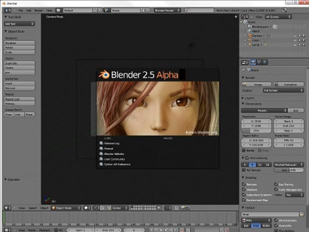 Blender v2.5 Alpha 2