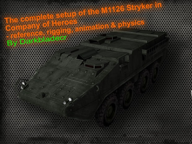 Complete setup of the M1126 Stryker vehicle