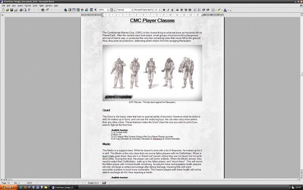 OverDose Design Document - 2010