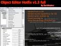 Object Editor Hotfix v1.3 full