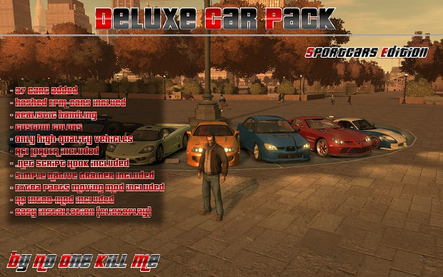 Deluxe Car Pack - Sportcars Edition V1.0 Installer