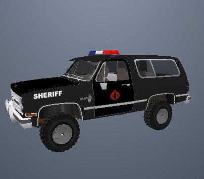 Cobra Sheriff Vehicle