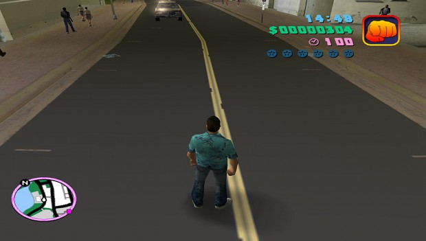 New roads texture for Grand Theft Auto Vice City