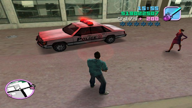Police car of Vice City white