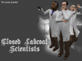 Closed Labcoat Scientist
