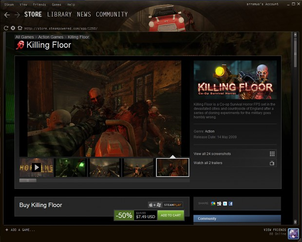 Steam KFVM GUI - Red Mini