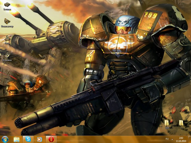 Global Defense Initiative Windows 7 theme