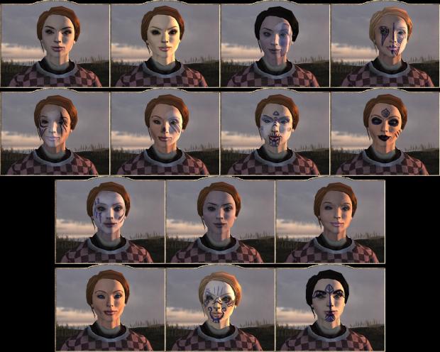 Alternative female faces