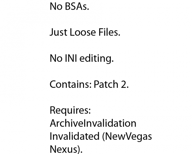 4Aces FNV RegRes Loose Files