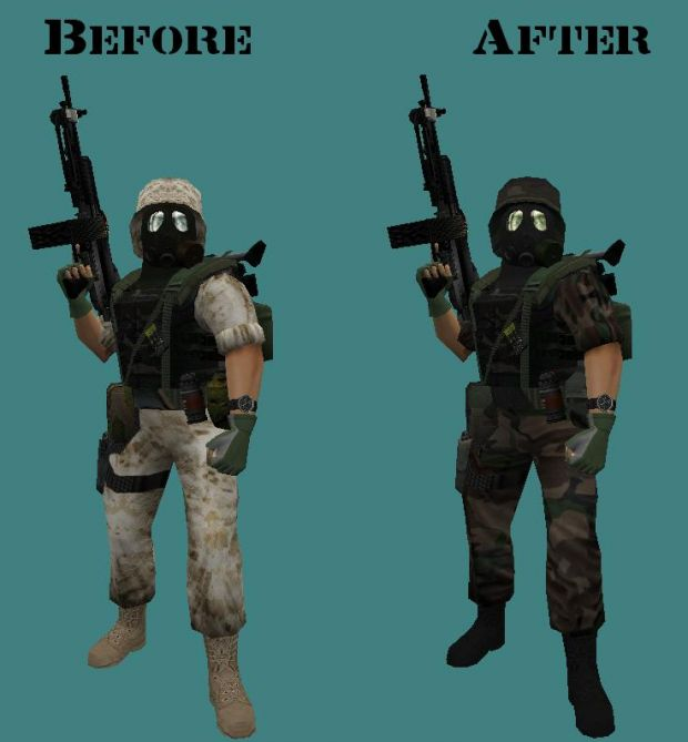 Opposing Force Redux Woodland Reskin