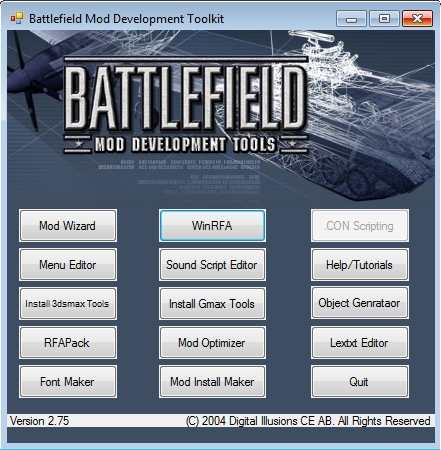 Battlefield 1942 Mod Development Toolkit SDK