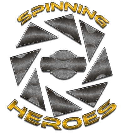 Spinning heroes new logo