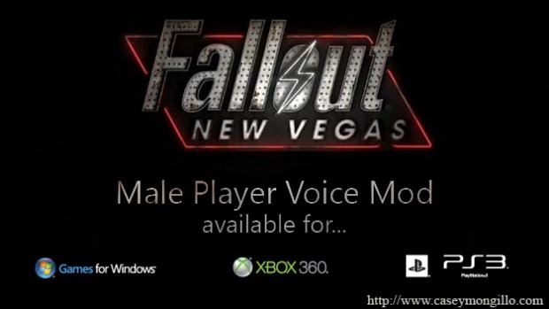 Fallout New Vegas Male Player Voice Mod