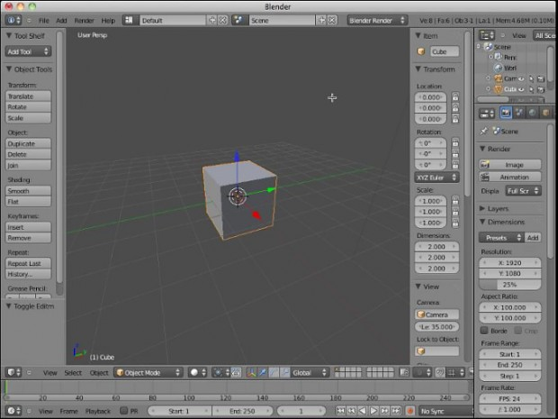 Blender 2.5.x Video Tutorials #1 by Neal Hirsig