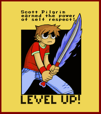 Scott Pilgrim - LEVEL UP spray