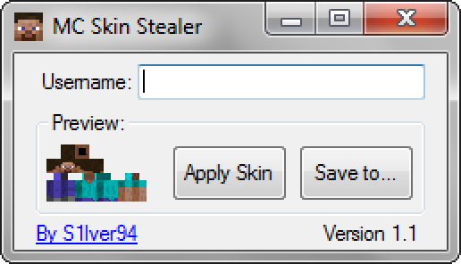 Minecraft Skin Stealer/Downloader V1.1